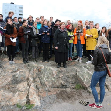 Valborgsfirande vid Hagalunds vattentorn