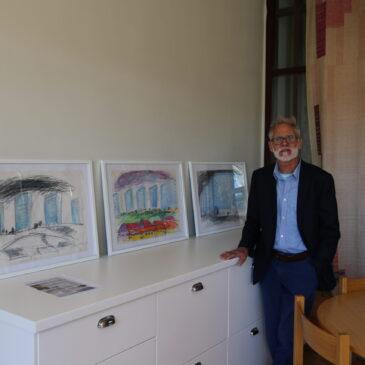 Utställning med bilder från Blåkulla i Hagalunds kyrka